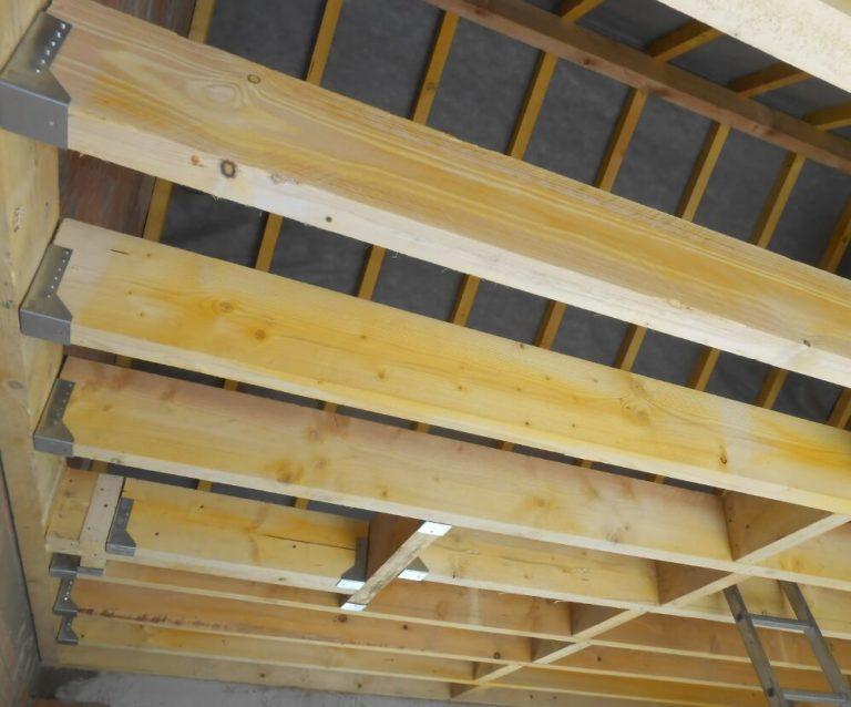 construction d'un garage et de la charpente
