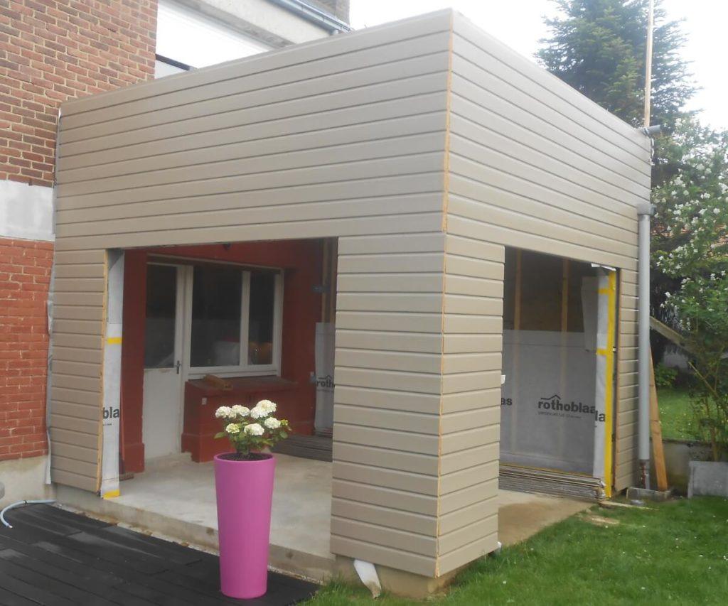 Extension bois avec bardage bois extension extérieure