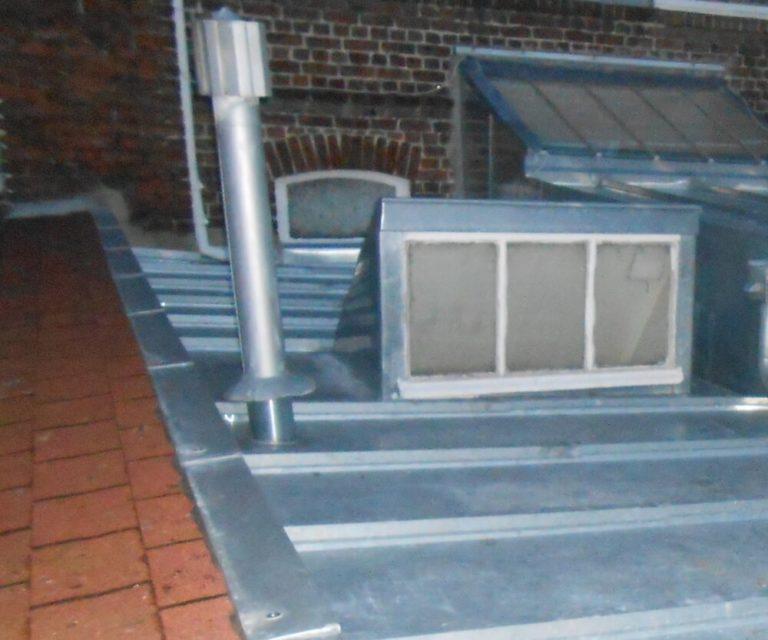 restauration d'une toiture en zinc